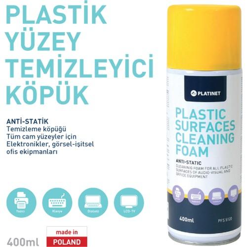 Plastik Yüzey Temizleme Spreyi Köpüðü Temizleyici 400 ml
