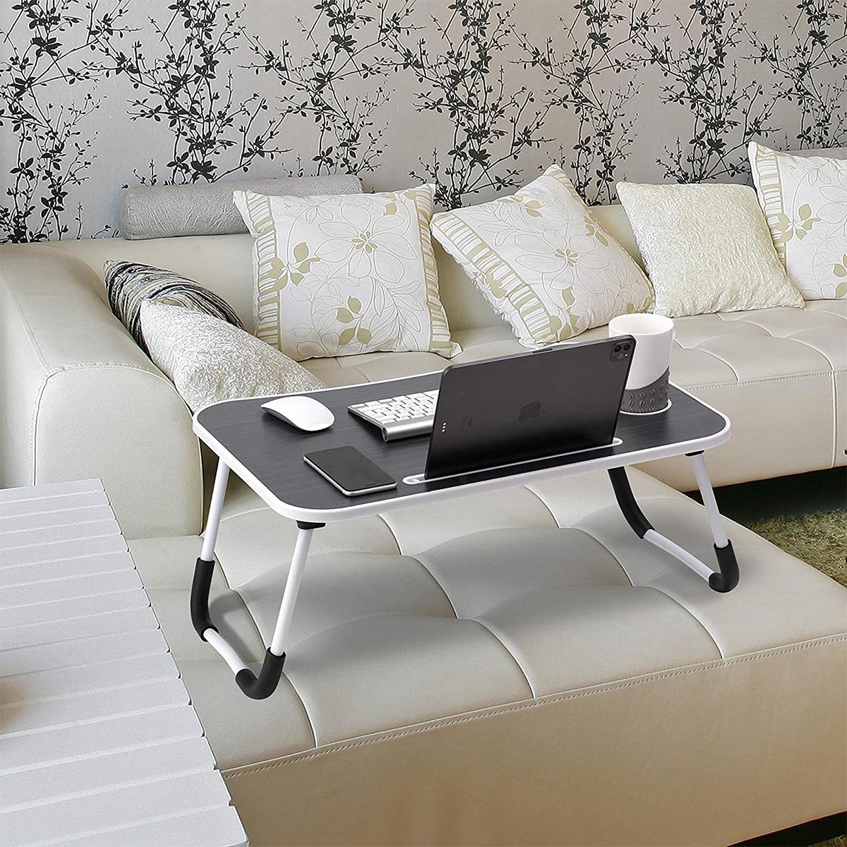 hs05 portatþif katlanabilir laptop sehpasý siyah beyaz