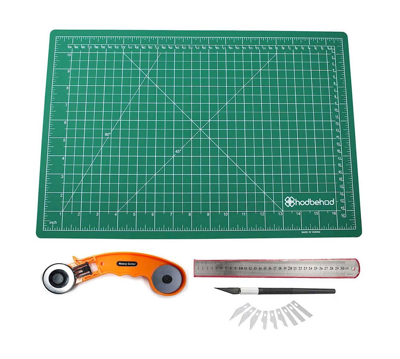 A2 60x45cm Çift Taraflý Kesim Altlýðý Hobi Cutting Mat Set