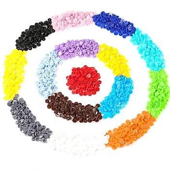 Plastik 360 Adet Renkli Çýt Çýt Düðme ve Saklama Kutusu