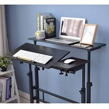 Laptop Bilgisayar Ayakta Yükseklik Ayarlı Yatak Ofis Ev Çalışma Masası