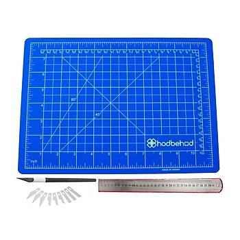 A4 Profesyonel Hobi Kesim Matı Seti Çift Taraflı Cutting Mat Set