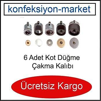 Kot Düðmesi Çakma Kalýplarý - 6 Farklý Çakým Kalýbý