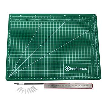 A3 45x30cm Hobi Kesim Matý Seti Çift Taraflý Cutting Mat Set