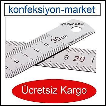 100cm Çift Taraflý Paslanmaz Çelik Metal Cetvel