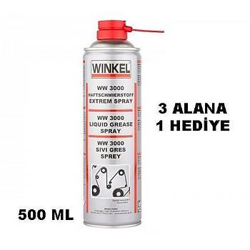 Winkel WW 3000 Sývý Gres Sprey Zincir Yaðlama 500 ml
