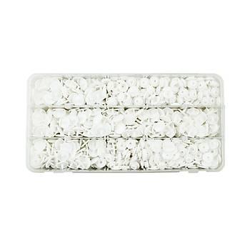 Plastik Beyaz Renk Çýt Çýt Düðme 200 Set 12.5 mm