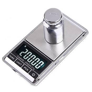 Dijital Hassas Elektronik Cep Terazi Taþýnabilir 500gr 0.01gr