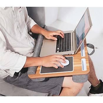 Portatif Laptop Sehpasý Tablet Bölmeli Yastýklý Notebook Masasý