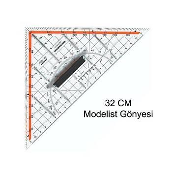 32 Cm Geodreýght Modelist Santimli Gönyesi - Geoderek Ölçekli Gönye