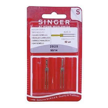 Singer 2025 -14 Nervür Çiftli İğne 3 MM (2 ADET)