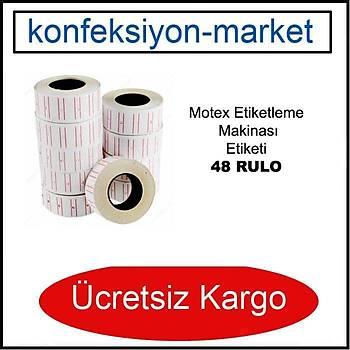 Motex MX5500 Etiketleme Makinasý Etiketi Metosu ( 48 Rulo ) (21mmx12mm)