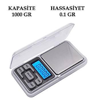 Dijital Hassas Elektronik Taþýnabilir Cep Terazi Tartý 1000gr 0.1