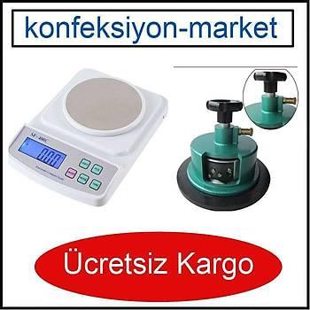 Elektronik Hassas Kumaþ Gramaj Terazisi  ve Kesicisi ( 4 Býçaklý )