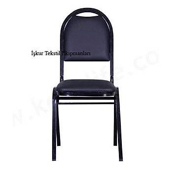 Hilton Sandalye ( Siyah Deri )