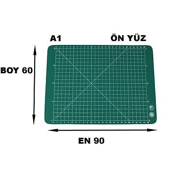 PVC Çift Taraflý A2 600x450mm Kesim Altlýðý Patchwork Cutting Mat