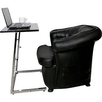 Yükseklik Ayarlý Dar Zigon Laptop-Notebook Sehpasý Masasý