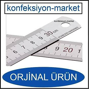 30cm Çift Taraflý Paslanmaz Çelik Metal Cetvel