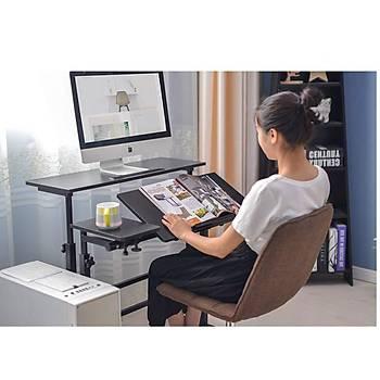 Laptop Bilgisayar Ayakta Yükseklik Ayarlý Yatak Ofis Ev Çalýþma Masasý