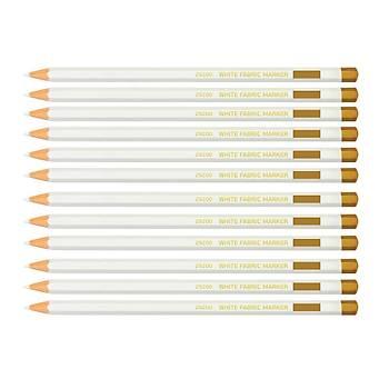 Beyaz Renk Kurşun İşaretleme Kalemi Tekstil Kumaş Karton Deri