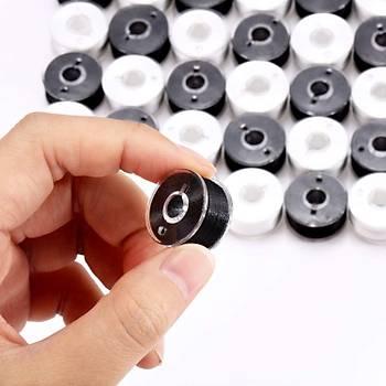 Ev Tipi Aile Dikiþ Makinasý 30 Adet Siyah Beyaz Ýplikli Plastik Masura