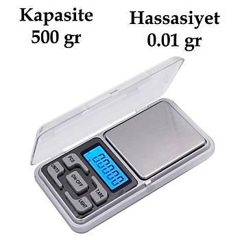 500gr 0.01 Hassas Elektronik Dijital Taþýnabilir Cep Terazisi