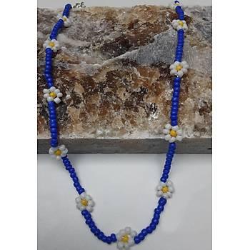 Mavi daisy kolye - Kargo bedava
