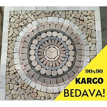 KARGO BEDAVA 90X90X1 CM FÝLELÝ MADALYON MERMER GÖBEK