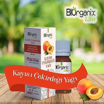 Biorganix Life Kayýsý Çekirdeði Yaðý 20 Ml Apricot Seed Oil
