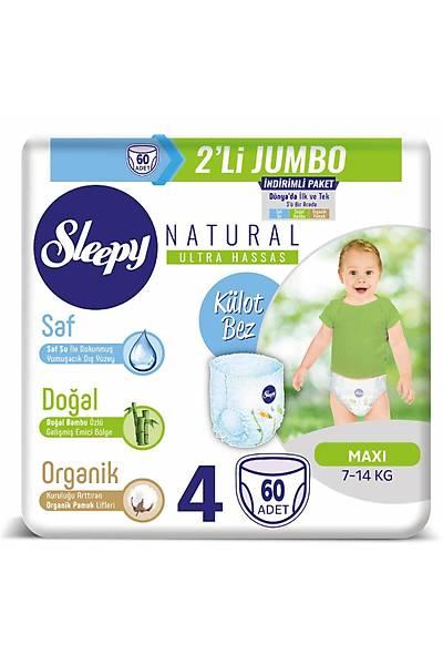 Sleepy Natural Külot Bez 4 Numara Maxi 2'LÝ JUMBO