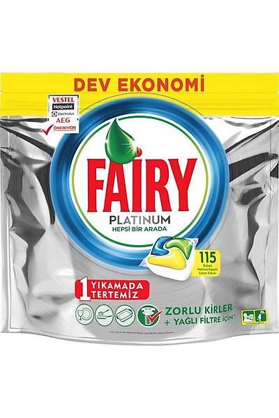 Fairy Platinum 115 Yýkama Bulaþýk Makinesi Deterjaný Kapsülü Limon Kokulu