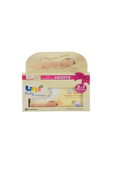Uni Baby Yenidoðan Islak Pamuk Mendil 3+1 Fýrsat Paketi / 160 Yaprak