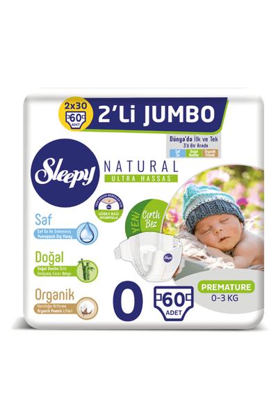 Sleepy Natural Bebek Bezi 0 Numara Prematüre 2'LÝ JUMBO
