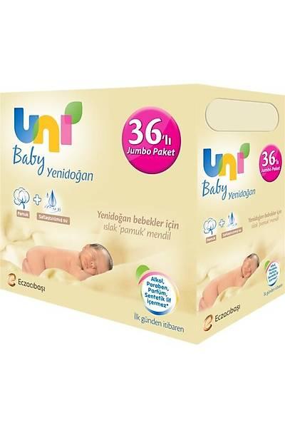 Uni Baby Yenidoðan Islak Pamuk Mendil 36'lý Fýrsat Paketi - 1.440 Yaprak