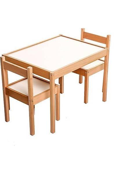Montessori Ahþap Masa ve Sandalye Seti