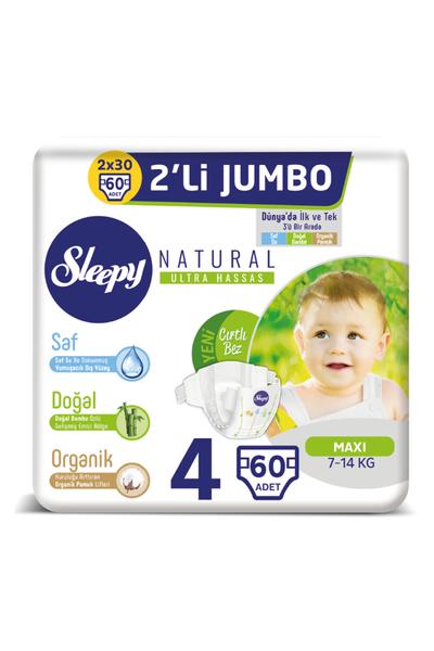 Sleepy Natural Bebek Bezi 4 Numara Maxi 2'LÝ JUMBO