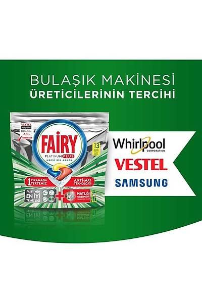 Fairy Platinum Plus 26 Yýkama Bulaþýk Makinesi Deterjaný Kapsülü + Sünger Hediyeli