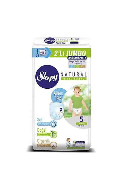 Sleepy Natural Külot Bez 5 Numara Junior 2'LÝ JUMBO