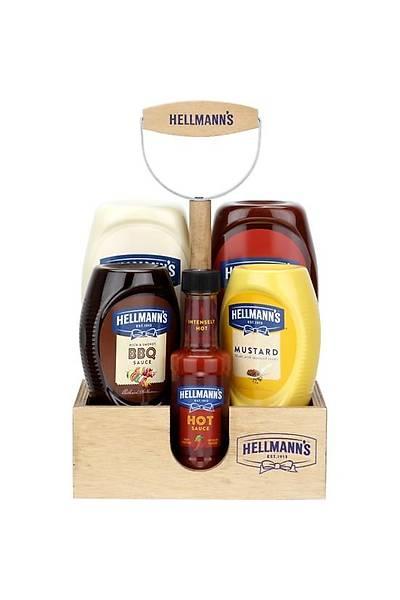 Hellmann's 5'li Sos Paketi Ahþap Tepsi Hediyeli