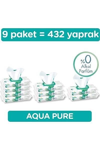 Prima Islak Havlu Mendil Aqua Pure 9'lu Fýrsat Paketi 432 Yaprak