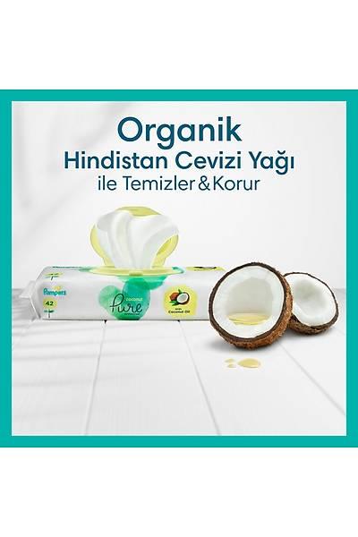 Prima Islak Havlu Mendil Aqua Pure CocoNut Hindistan Cevizi 3 Paket 126 Yaprak