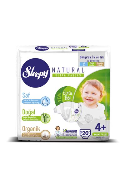 Sleepy Natural Bebek Bezi 4+ Numara Maxi Plus 2'LÝ JUMBO