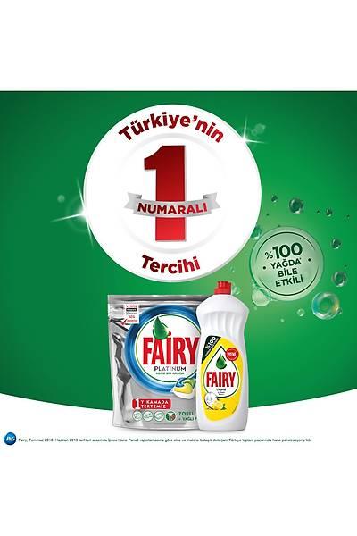 Fairy Platinum 90 Yýkama Bulaþýk Makinesi Deterjaný Kapsülü Limon Kokulu