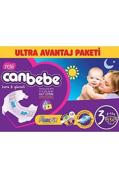 Canbebe Ultra Avantaj Paketi 3 Midi 4-9kg (136 Adet)