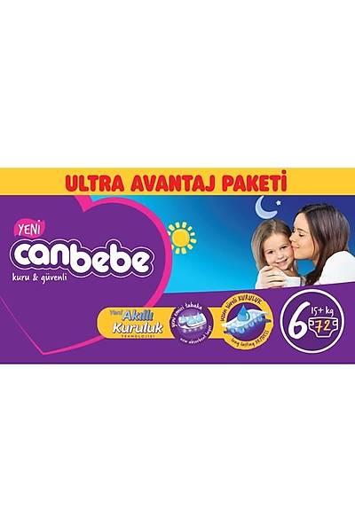 Canbebe Ultra Avantaj Paketi 6 Extra Large 15+kg (72 adet)