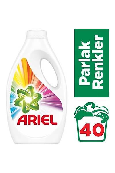 Ariel 40 Yýkama Sývý Çamaþýr Deterjaný Parlak Renkler