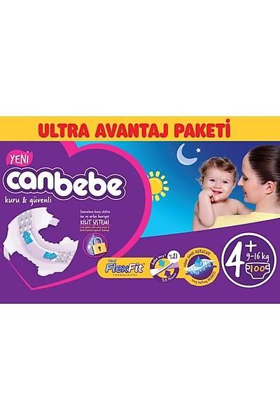 Canbebe Ultra Avantaj Paketi 4+ Maxi Plus 9-16kg (100 Adet )