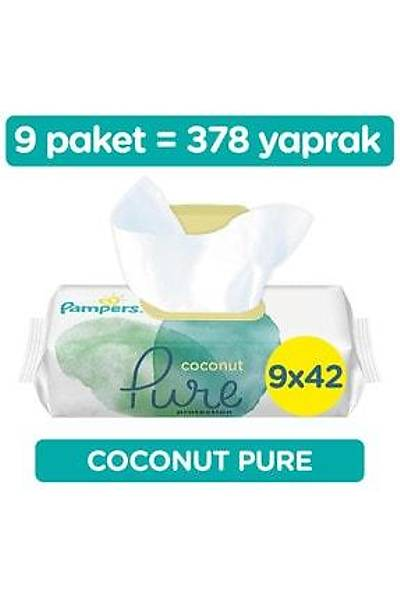Prima Islak Havlu Mendil Aqua Pure CocoNut Hindistan Cevizi 9 Paket 378 Yaprak
