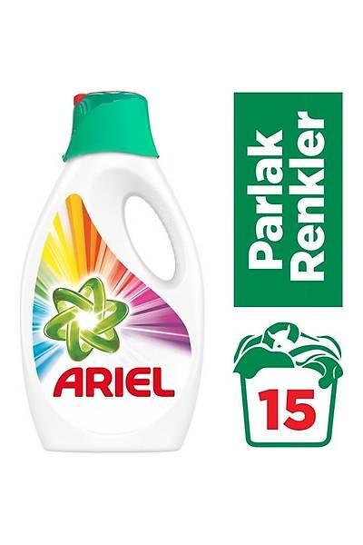 Ariel 15 Yýkama Sývý Çamaþýr Deterjaný Parlak Renkler