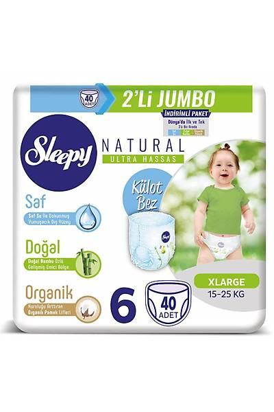Sleepy Natural Külot Bez 6 Numara Xlarge 2'LÝ JUMBO